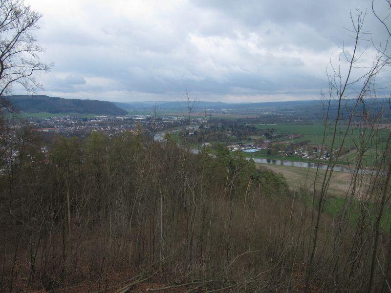 Blick auf das Wesertal bei Höxter