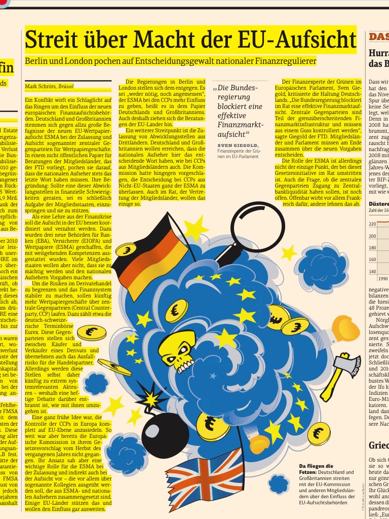 FTd: Streit über Macht der EU-Aufsicht