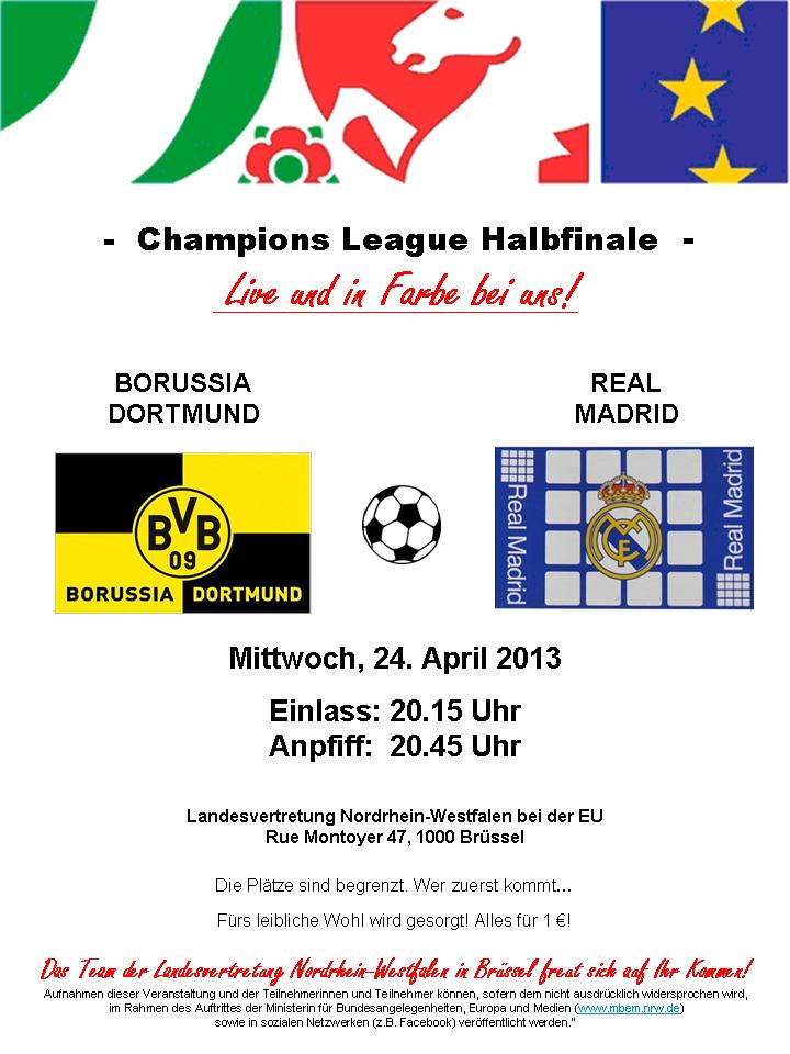 Einladung Champions League
