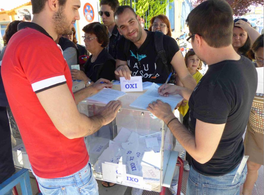 Referendum über Wasserprivatisierung in Thessaloniki (Foto: Florian Hofmann)