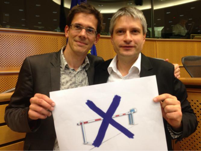 Bas Eickhout und Sven Giegold gegen neue Grenzen durch Maut in Deutschland