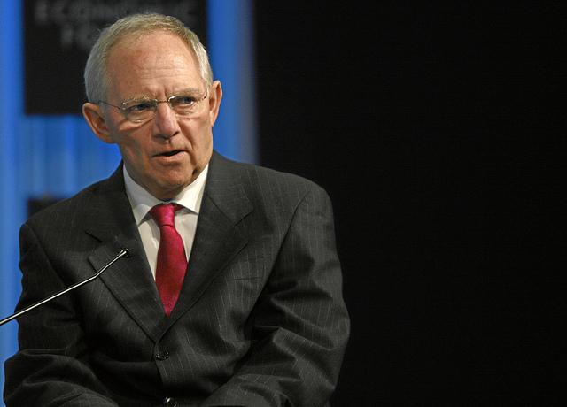 Wolfgang Schäuble, deutscher Finanzminister