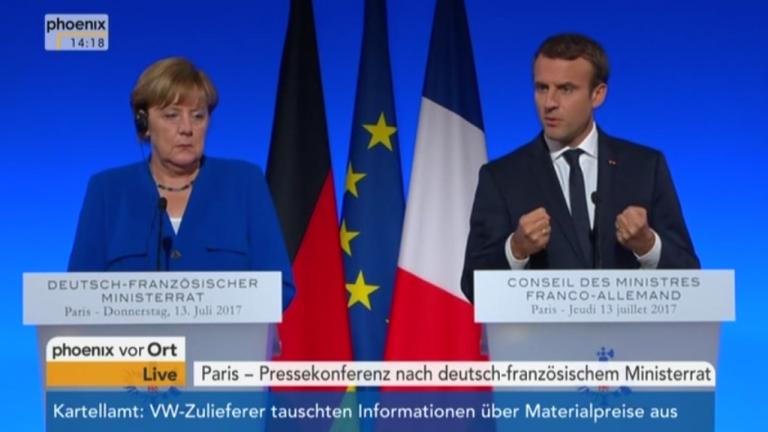 13 Juli 2017 Pressekonferenz Merkel und Macron nach Regierungskonsultationen