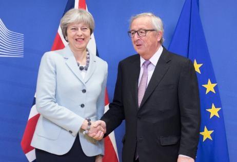 Brexit-Verhandlungen May und Juncker