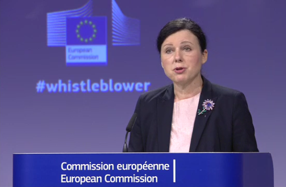 whistleblower proposal presented by justice Commissioner Vera JOUROVÁ