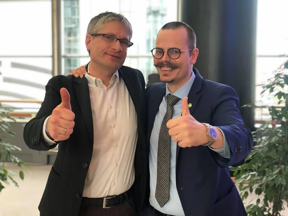 MEPs Sven Giegold und Max Andersson (beide Grüne/EFA) - Foto von Aleksandra Eriksson Pogorzelska gemeinfrei zur Verwendung bereitgestellt
