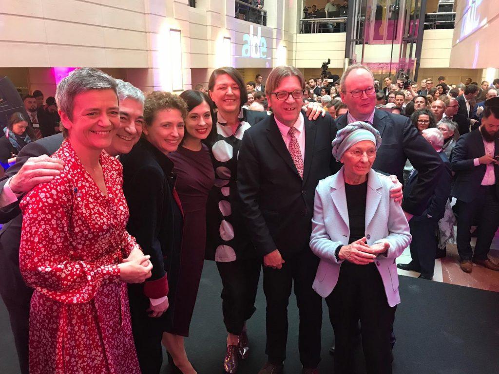 Team Europe der ALDE-Partei aus einem Tweet von Guy Verhofstadt