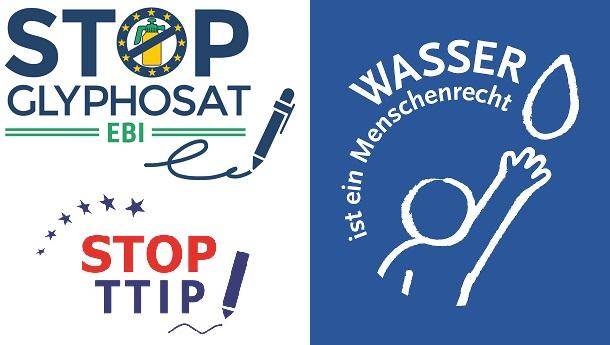 ECI examples Glyphosate TTIP Wasser EBI Beispiele