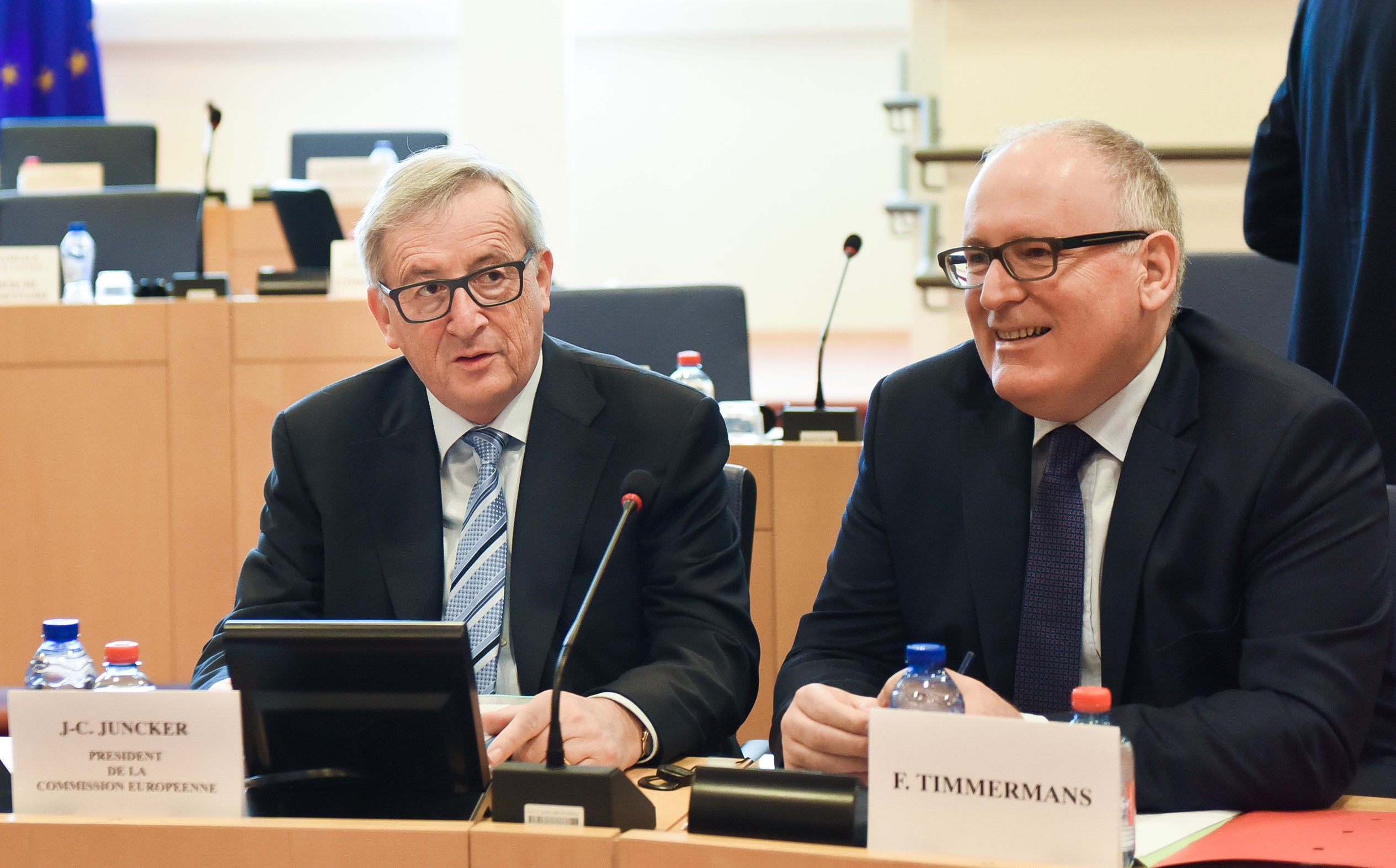Jean-Claude Juncker, on the left, and Frans Timmermans, photo source: European Commission, photo taken by Jennifer Jecquemart