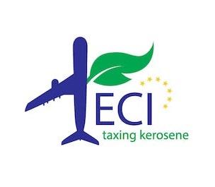 Logo der Europäischen Bürgerinitiative für die Besteuerung von Flugbenzin Kerosin
